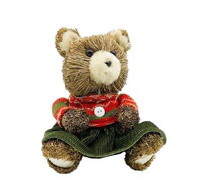 Ursinha de Natal sentada