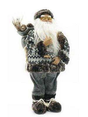 Papai Noel tricô cinza