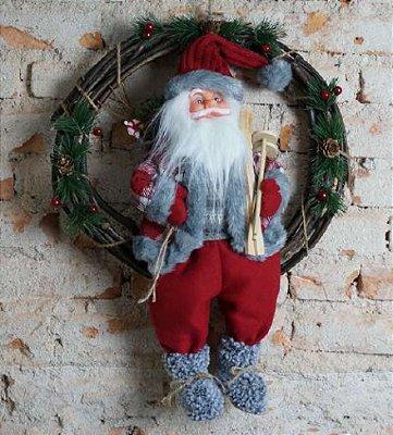 Papai Noel na guirlanda