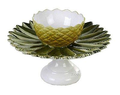 Prato com bowl de abacaxi Zanatta Casa