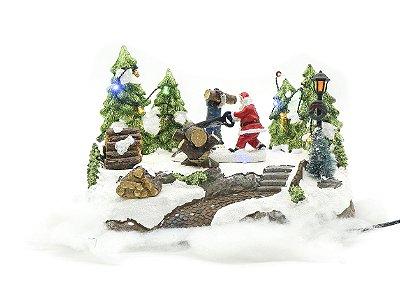 Papai Noel lenhador