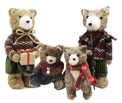 Família de Ursinhos Natalinos