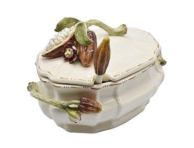 Sopeira de cacau burgandi e flor de maracujá Zanatta Casa