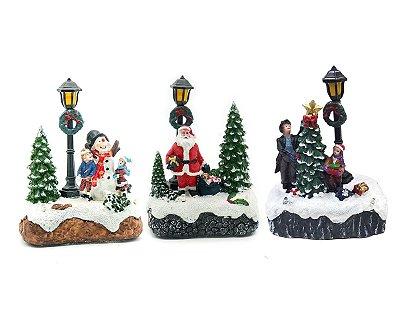 Trio de Mini figuras de Natal
