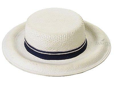 Chapéu chacote com fita azul pontilhado vermelho due Zanatta Casa
