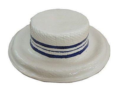 Chapéu com trio faixas azuis Zanatta Casa