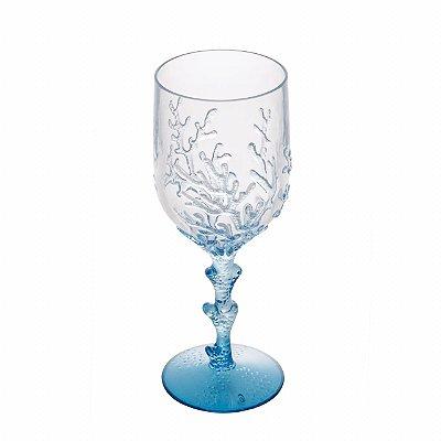 Taça acrílico coral azul (cj com 6)