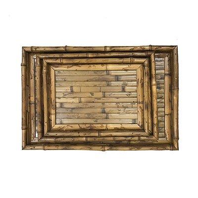 Trio de bandejas de bambu Luli P, M, G