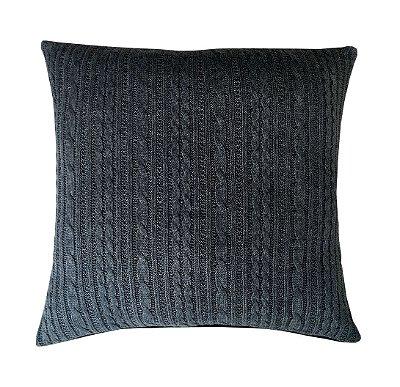 almofada tricot cinza