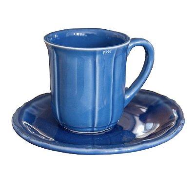 Xícara de chá cerejeira azul reativo Zanatta Casa