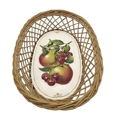 Cesta com pintura de frutas vermelhas Zanatta Casa