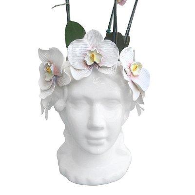 Cabeça Orquídea Artesanal