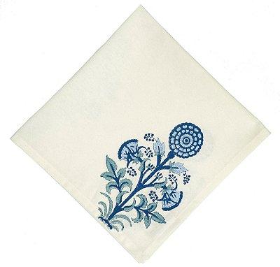 Guardanapo indiano flor azul (jogo 4)