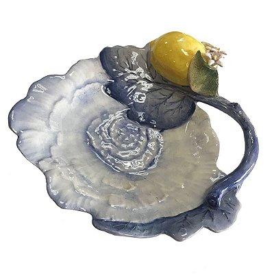 Prato Dior Folha azul com limão siciliano