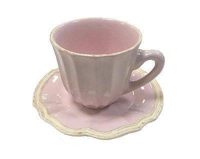 Xícara de chá casual rosa claro Zanatta Casa