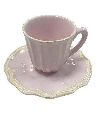 Xícara de café casual rosa claro Zanatta Casa