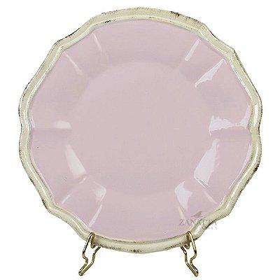 Prato raso linha casual rosa pastel Zanatta Casa