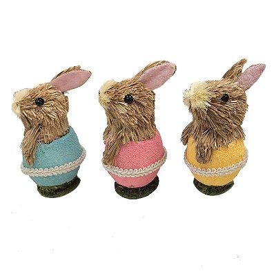 Kit com 3 mini coelhos