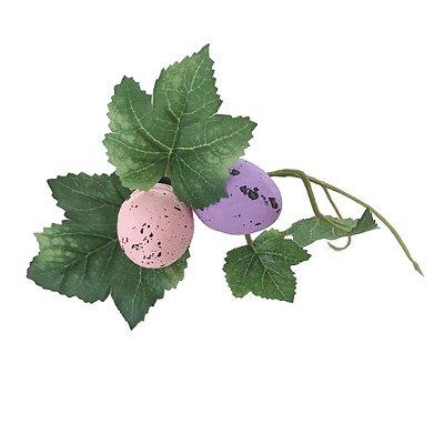 Porta guardanapo ovos rosa e lilás (cj com 3)