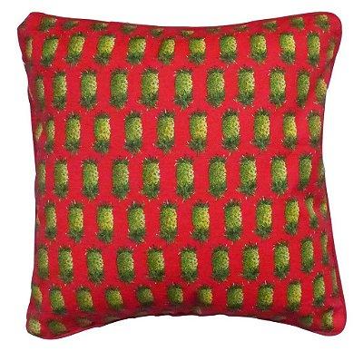 Almofada Abacaxi Vermelha 48x48 cm
