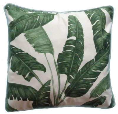 Capa de Almofada Folhas de Bananeira