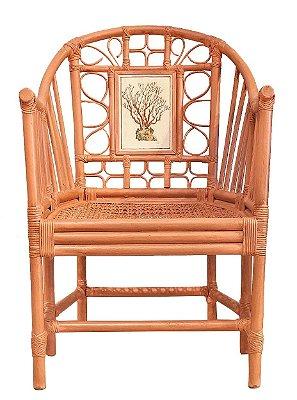Cadeira chino rouge de fer com coral