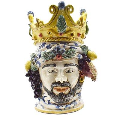 Cabeça moura masculina com frutas e coroa Zanatta Casa