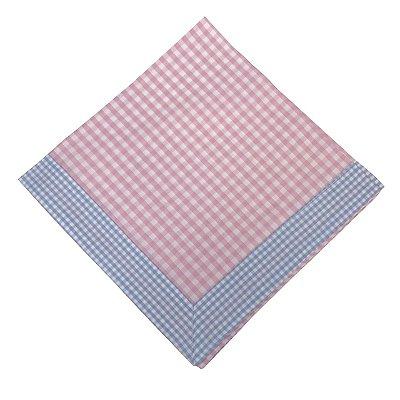 Guardanapo Vichy rosa e azul