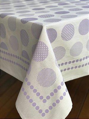 Toalha Ovos lilás (quadrada)