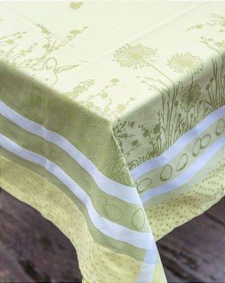 Toalha de páscoa adamascada verde 1,5 x 2,5m