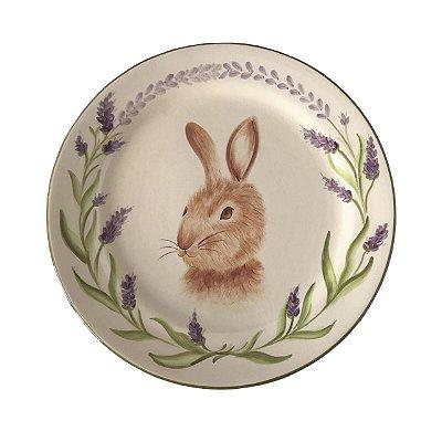 Prato de sobremesa coelho lavanda
