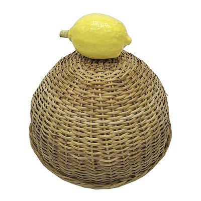 Cobre bolo junco e limão de cerâmica