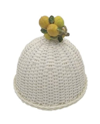 Cobre bolo junco branco e laranjas de cerâmica Zanatta Casa