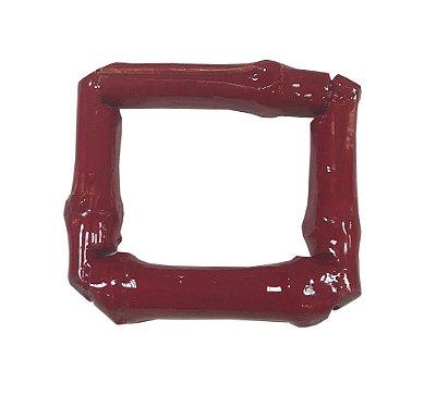 Porta Guardanapo quadrado de Bambu vermelho (2 unidades)
