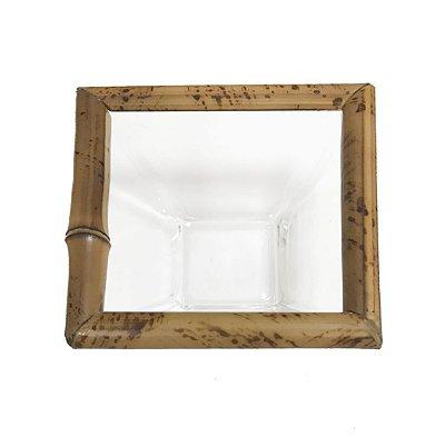 Bowl quadrado p vidro e bambu (jogo 2)