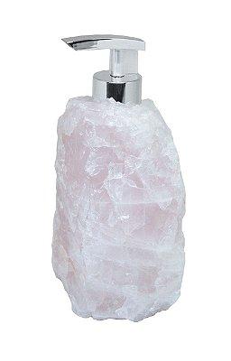 Dispenser em quartzo rosa
