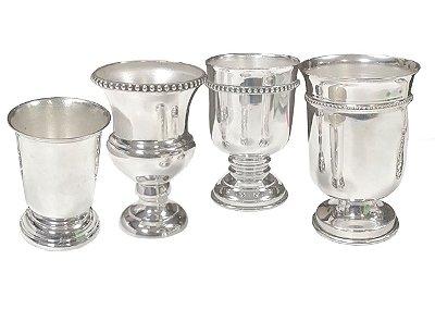 Quarteto de vasinhos de prata