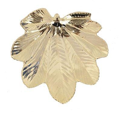 Pratinho folha banhado a ouro