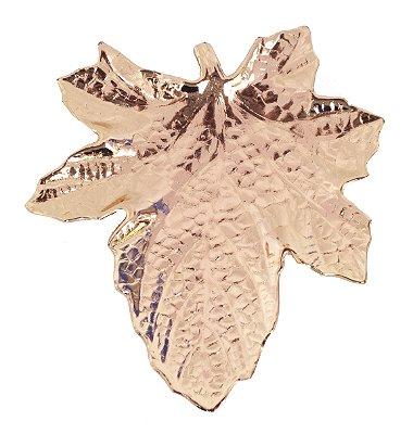 Pratinho folha plátano banhado em cobre