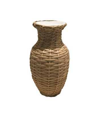 Mini vaso de vime com porcelana
