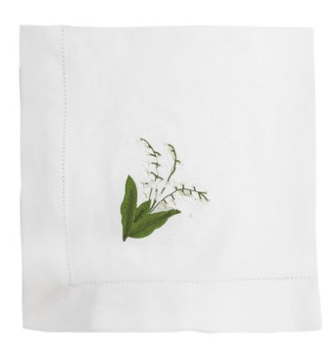 Guardanapo flor de muguet