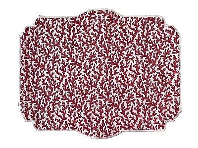 Jogo americano dupla face coral vermelho (jogo 2)