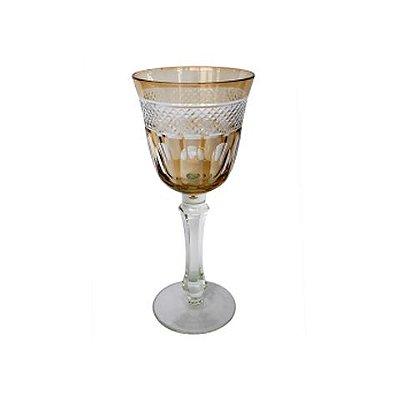 Taça âmbar lapidada vinho branco (jogo 6)