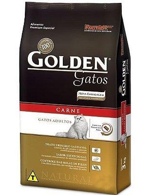 RAÇÃO GOLDEN GATOS ADULTOS CARNE - 10,1kg
