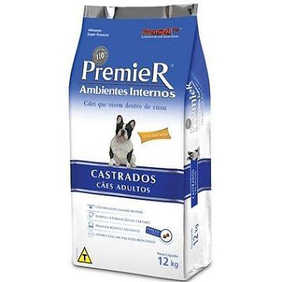 RAÇÃO PREMIER AMBIENTES INTERNOS CÃES CASTRADOS - 12kg