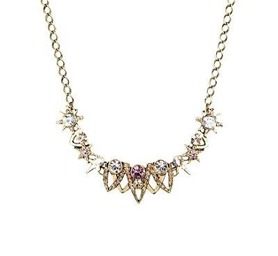 Colar Armazem RR Bijoux curto cristais