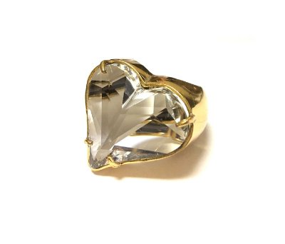 Brinco Armazem RR Bijoux coração cristal swarovski