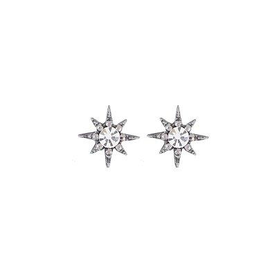 Brinco Armazem RR Bijoux estrela prata