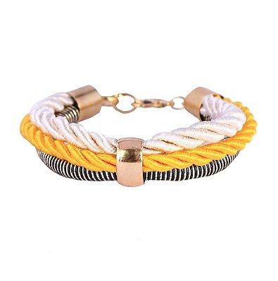 Pulseira Armazem RR Bijoux cordão amarelo