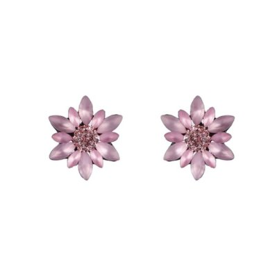 Brinco Armazem RR Bijoux flor rosa